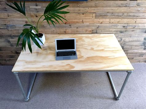 Diy Plywood Desk With Pipe Frame Plans To Build Your Own Plywood Desk Diy