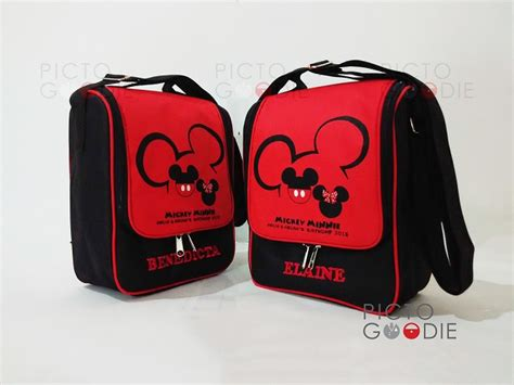Sale Tas Kotak Mickey Lunch Bag Tas Bekal Hadiah Kado Souvenir tas lunch bag berdiri mickey silhouette pictogoodie