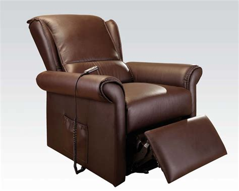 massaging recliners recliner w lift massage by acme furniture ac59169