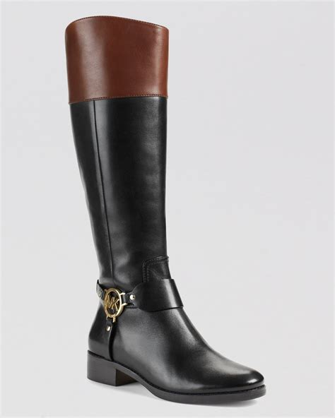 michael kors boots for lyst michael michael kors harness boots fulton in