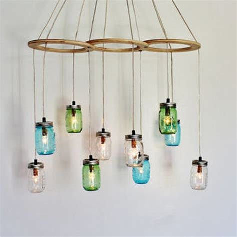 upcycled chandelier upcycled jars into beautiful chandeliers recycled