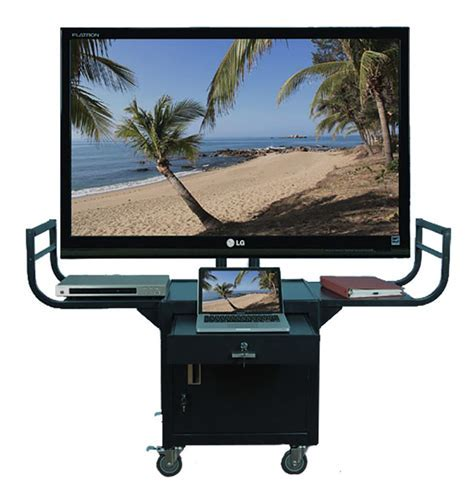 Plasma TV Cart   Pull Out Drawer and Locking Storage Cabinet