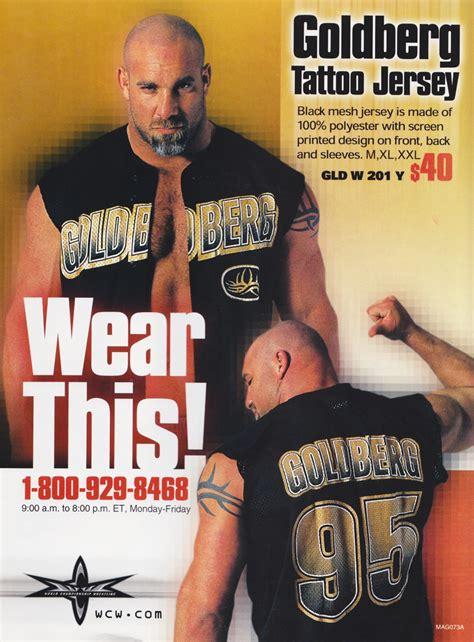 bill goldberg tattoo design goldberg jersey advert 2001 not the wcw