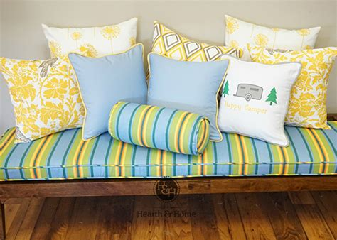 pillows for indoor benches custom bench cushions pick your own size material
