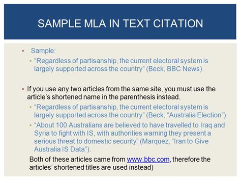 mla format resources sle page and citation exles