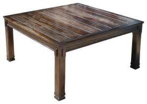 Square Rustic Dining Table Rustic Solid Wood Transitional 64 Quot Square Dining Table For 8 Rustic Dining Tables