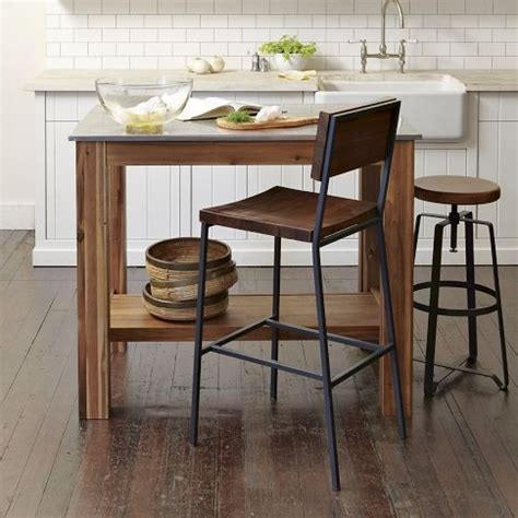 Wood And Stainless Steel Kitchen Island by Rustin Kitchen Island Acacia Wood Frame Stainless Steel