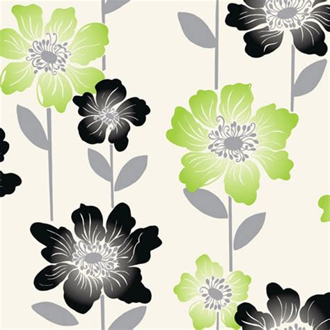 wallpaper lime green flowers coloroll margarita floral wallpaper lime green black cream