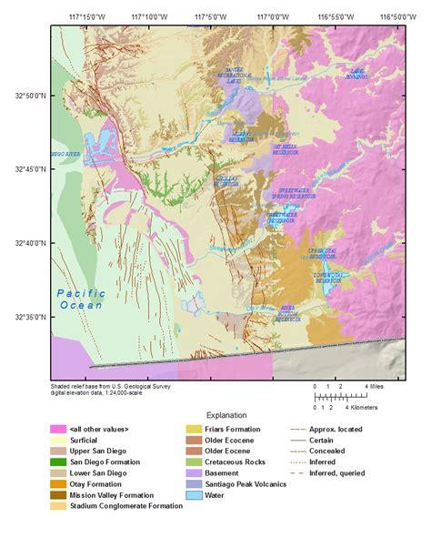 san francisco geology map usgs ca san diego hydrogeology