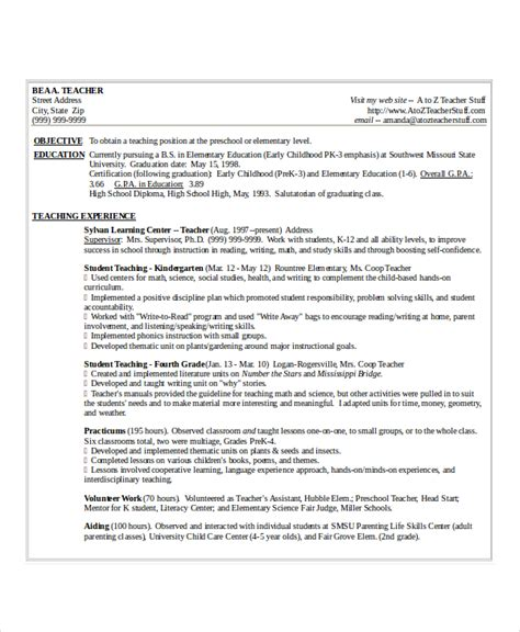 microsoft word resume templates for teachers resume template word 10 free word documents