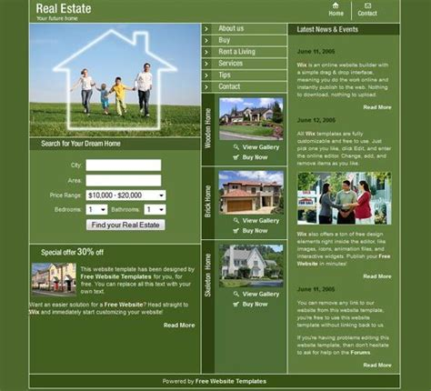 House For Sale Template Free Templates Download Buy Website House Sale Listings The House For Buy Web Templates