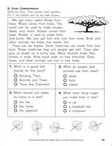 Practice test 8 reading skills grade 2 printables