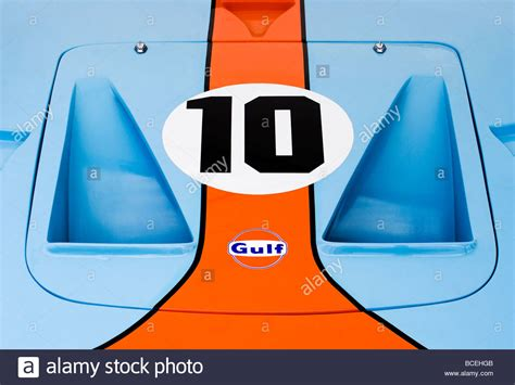 gulf logo gulf logo and classic gulf colours on a ford gt 40 stock
