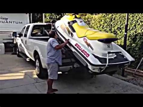 water scooter stand up my seadoo lift youtube