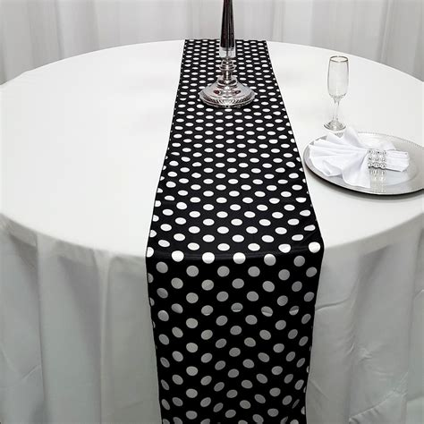 Table Runner Monochrome Minimalis Motif Polka satin polka dot table runners