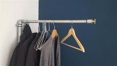 kleiderstange selber bauen kleiderstange selber bauen industrialstyle im