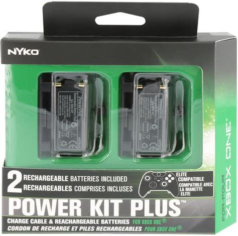 Xbox One Nyko Power Kit Battery Battery Cover Micro Usb Cable Nyko Power Kit Plus Rechargeable Batteries Xbox One