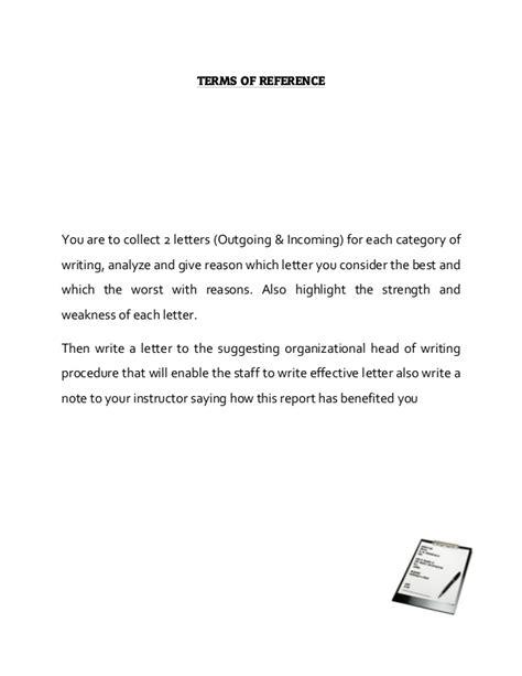Report Sending Letter Karim Virani Term Report On Effective Letter Writing