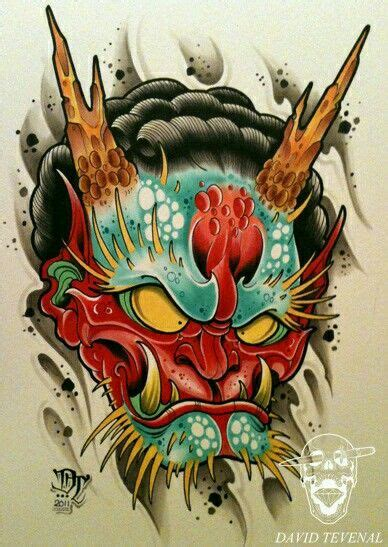 tattoo oriental demonio demonio dise 241 os tattoo david tevanal pinterest