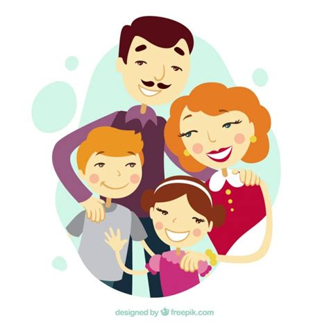 imagenes vectores familia familia linda ilustrada descargar vectores gratis