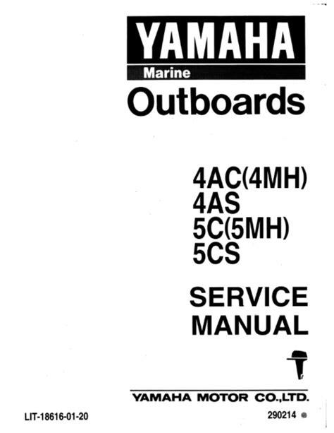 yamaha outboard engine parts manual yamaha 4hp models service repair workshop manuals