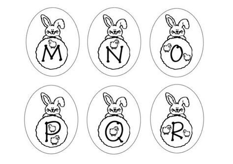 easter alphabet coloring pages bunny letters mnopqr coloring pages hellokids com