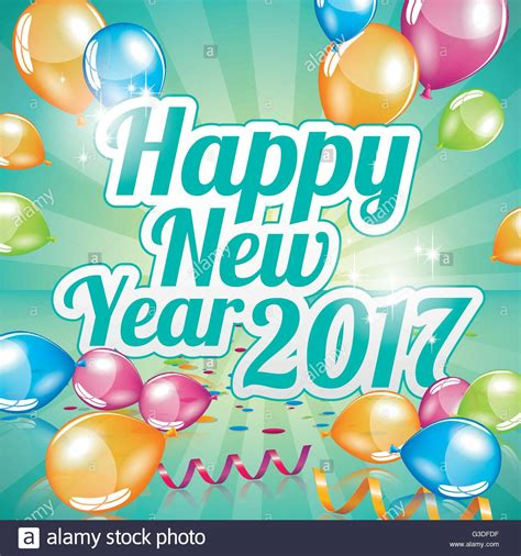 happy new year card vector happy new year 2017 greeting card vector stock vector