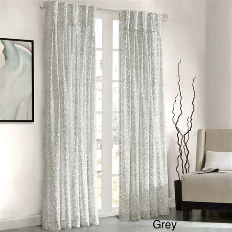 Contemporary Window Curtains Park Amari Damask Pattern Window Panel Curtain Contemporary Curtains By Overstock