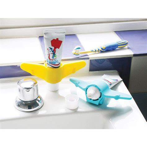Airplane Bathroom Decor by Bathroom Accessories Plane Toothpaste Holder Lime