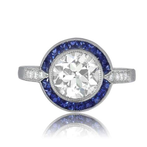 Wedding Rings With Sapphires And Diamonds by And Sapphire Engagement Ring Estate Jewelry
