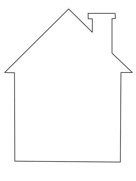 template of house printable house simple shapes coloring pages