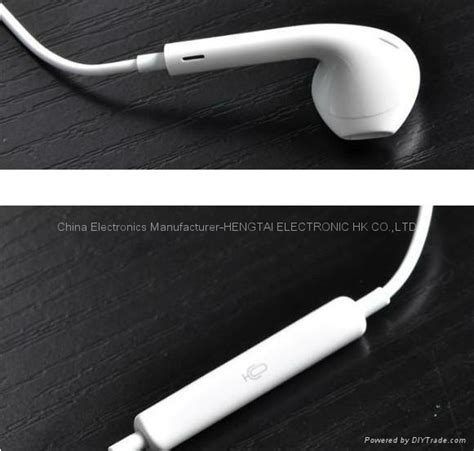 Earphone For Iphone 5 High Quality T0210 2 high quality earpods earphone headphone with remote mic