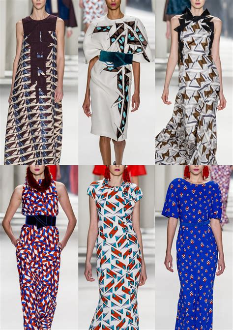 geometric pattern in fashion new york fashion week autumn winter 2014 2015 print
