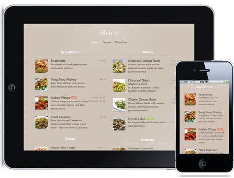 Web Design Menu Mobile | restaurant mobile website design