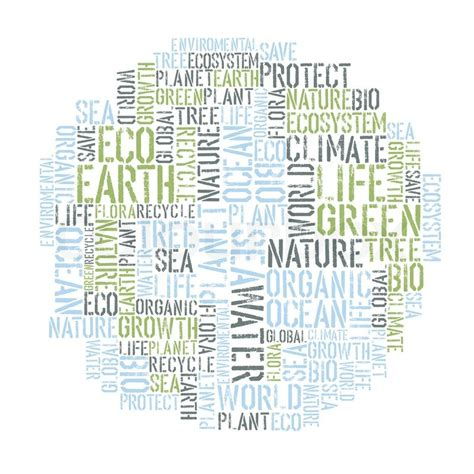 design poster word ecology earth concept word collage environmental poster