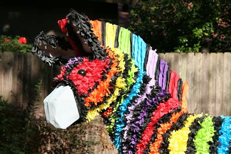How To Make A Pinata Without Paper Mache - rainbow zebra pi 241 ata boy