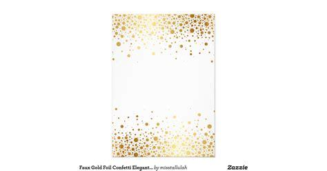 Faux Gold Foil Glamor Wedding Faux Gold Foil Confetti Elegant Wedding Invitation