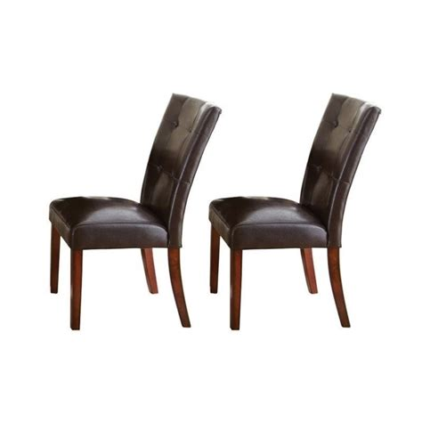 The Dining Chair Company Steve Silver Company Montibello Dining Chair In Brown Mn500s