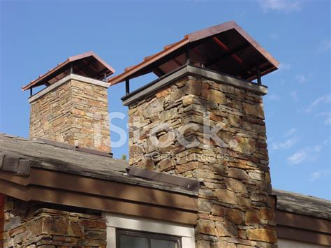 stone chimneys stone chimney caps stock photos freeimages com