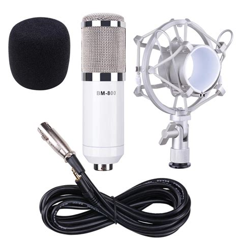 Mic Microphone Condenser Bm700 bm700 bm800 condenser microphone shock holder vocal mic