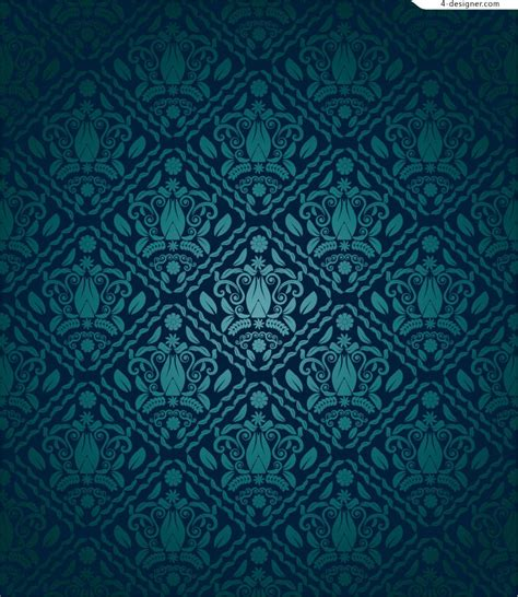 blue pattern material 4 designer gorgeous blue pattern vector material