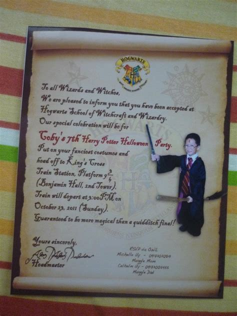 Hogwarts Acceptance Letter Invitation Hogwarts Acceptance Letter Invitation Anything Harry