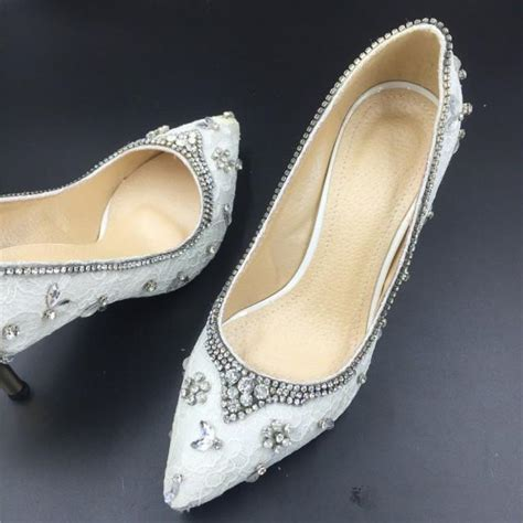 Unique Wedding Shoes by White Ivory Lace Wedding Shoes Prom Shoes