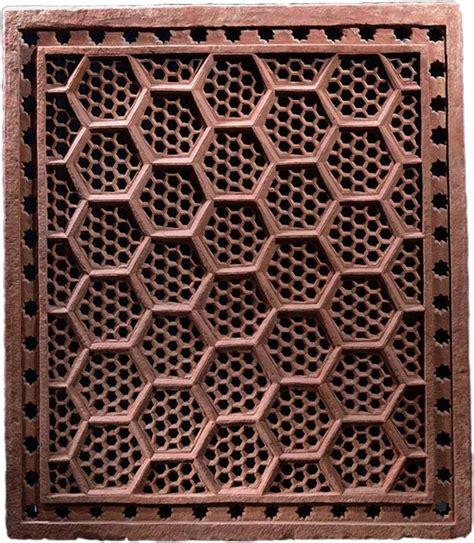islamic jali pattern hexagonal jali screen india mughal 17th century