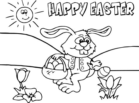 Cartoon Easter Bunny Coloring Pages