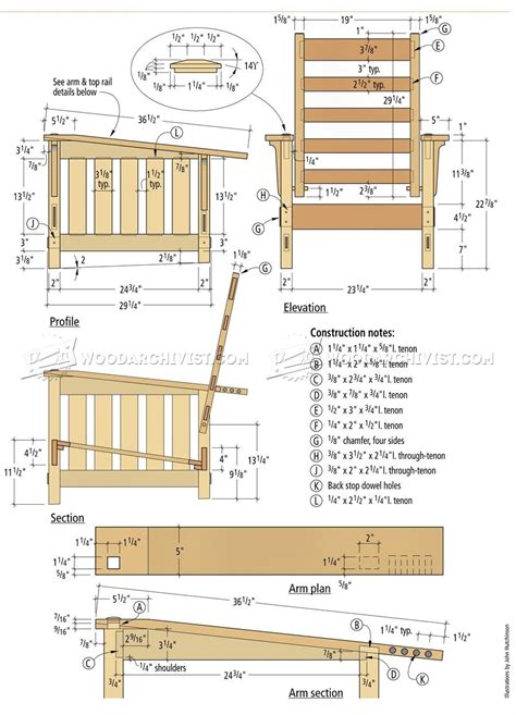 Circular Chair Morris Chair Plans Woodarchivist