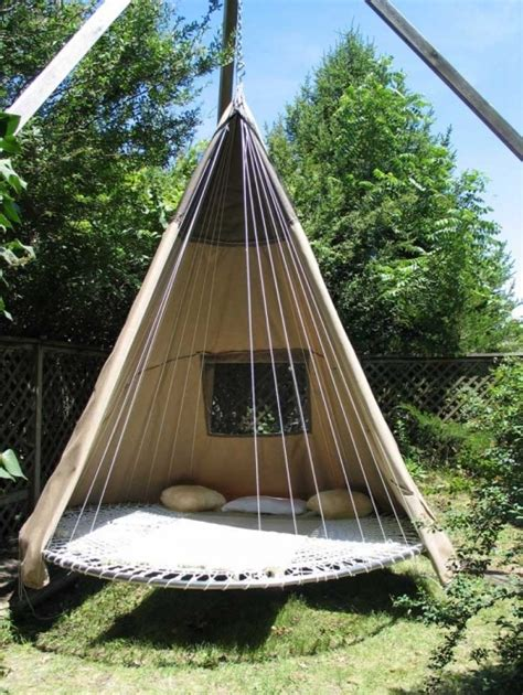 swinging tent bed hammock swing teepee tipi image 16641 on favim com