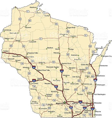 road map wisconsin wisconsin highway map my
