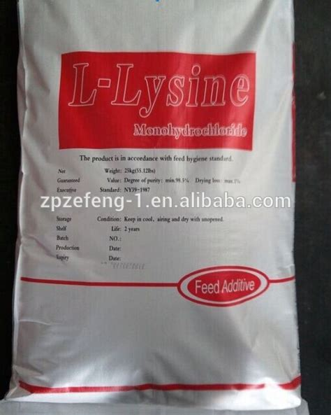 L Lysine Hcl 98 5 list manufacturers of l lysine sulphate 70 feed grade buy