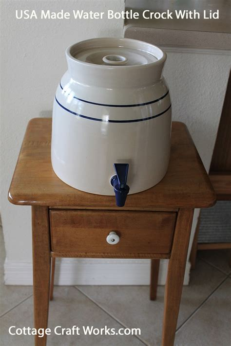 water with lid made in the usa stoneware 5 gal water bottle dispensing crock
